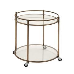 Simply Artistic Metal Glass Tea Cart