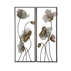 Delightful Metal Wall Plaque 2 Assorted
