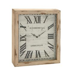 Timelessly Rustic Wood Wall Clock