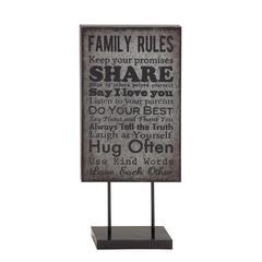 Benzara Family Matters Metal Table Plaque