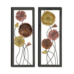 Benzara Exquisitely Designed 2 Assorted Metal Wall Décor
