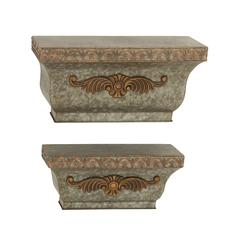 Set Of 2 Alluring Metal Wall Shelf
