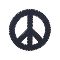 """Blue Wood Peace Sign 24""""D"""