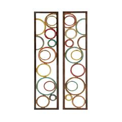 Astonishing 2 Assorted Metal Wall Panel