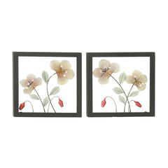 Enthralling Metal Led Wall Plaque 2 Assorted