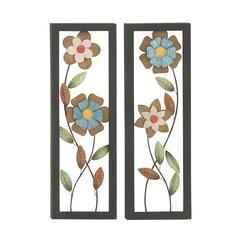 Benzara Set Of 2 Assorted Exquisite Metal Wall Décor
