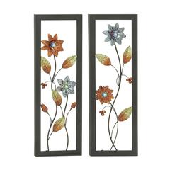 Classic Metal Led Wall Plaque 2 Assorted