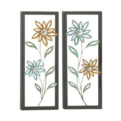 Benzara Attractive 2 Assorted Metal Wall Plaques