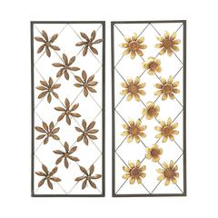 Set Of 2 Assorted Attractive Metal Wall Décor
