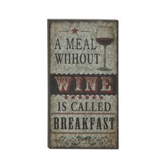 Benzara Captivating Metal Wall Plaque