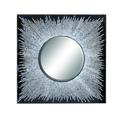 Beautiful Wood Lacquer Inlay Mirror With Wooden Frame