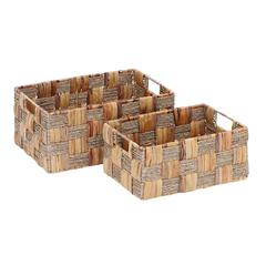 Wicker Basket With Spaciously Designed - Set Of 2
