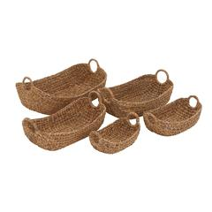 Benzara Attractive Styled Classy Seagrass Basket