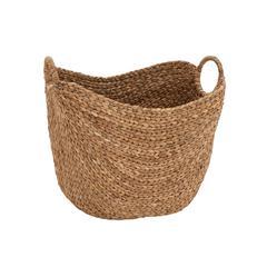 Benzara Creative Styled Attractive Sea Grass Basket