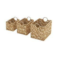 Benzara Exclusive & Superb Set Of 3 Sea Grass Baskets