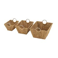 Benzara Outstanding Set Of 3 Sea Grass Baskets