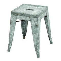Classic Metal Galvanized Counter Stool (Small)