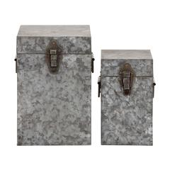 The Cool Set Of 2 Metal Square Box