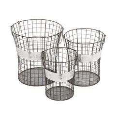 The Handy Set Of 3 Metal Wire Basket