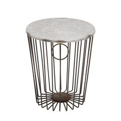 Benzara Classy Styled Fascinating Metal Wire Stool