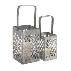 Benzara Contemporary Styled Well Designed Metal Lantern