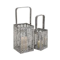 Benzara Customary Styled Classy Metal Square Lantern