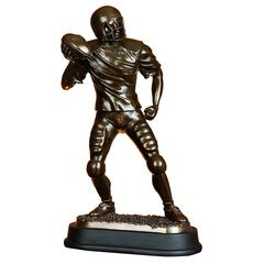 Brown Polystone Football Player Beautifully Carved