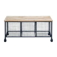 Bench W Basket With High-Quality Casters