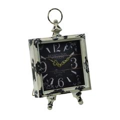 Clock With Square Shaped Dial In Intricate Design