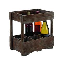 Benzara Designed Wood Wine Rack For Classic And Unique Wines