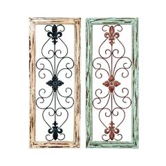 Benzara Wall Panel Assorted In Abstract Design - Set Of 2