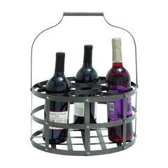 Benzara Elegant Metal Wine Holder