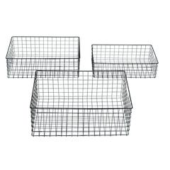 Metal Wire Basket Set Of Three
