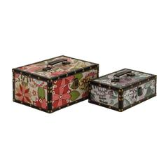 Fantastic Floral Patterned Wood Vinyl Box
