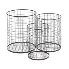 The Handy Set Of 3 Metal Container Basket