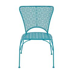 Benzara Uniquely Styled Metal Flower Chair