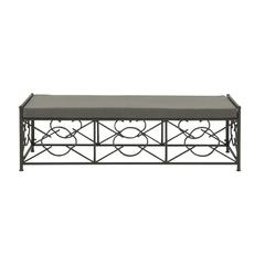 Enthralling Metal Fabric Outdoor Bench