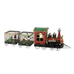 Benzara Set Of 3 Attractive Metal Xmas Train