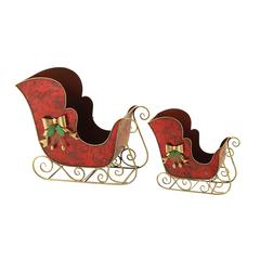 Benzara Wonderful Set Of 2 Metal Sleigh