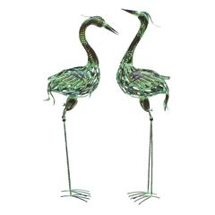 Metal Bird With Attractive And Elegant Artistic Style - Set Of 2