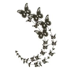 Benzara Timeless And Durable Design Metal Butterfly Wall Decor