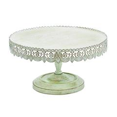 Strong And Stylish Cake Stand In Metal With Soft White Polish