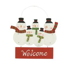Benzara Gorgeous Metal Led Wall Snowman Sign