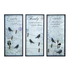 Long Lasting Wood Wall Decor Assorted - Set Of 3