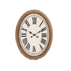 Benzara Fascinating Styled Wood Rowall Clock