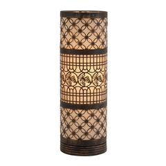 Fascinating Classy Styled Metal Cylinder Table Lamp