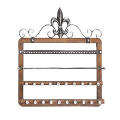 Benzara Elegant Styled Designed Wood Wall Jewelry Rack