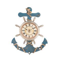 Benzara Attractive Unique Styled Wood Anchor Clock