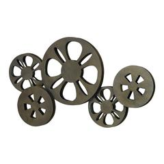 Benzara Metal Movie Reel Elegant Accessory For Studio