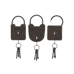 Benzara Metal Key 3 Asst To Keep The Keys Safe And In Style